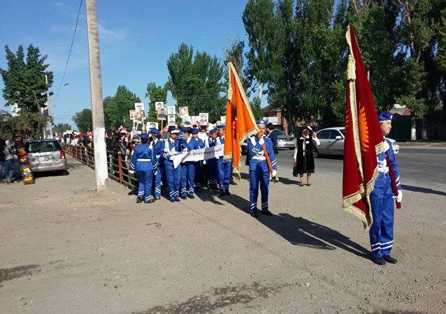 Праздничное шествие ко дню 73-й годовщины Дня Победы в Военно Антоновке