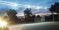 В селе Новопавловка Чуйской области установили специальный пешеходный переход с подсветкой