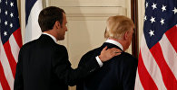 Архивное фото президента США Дональда Трампа и президента Франции Эммануэля Макрона