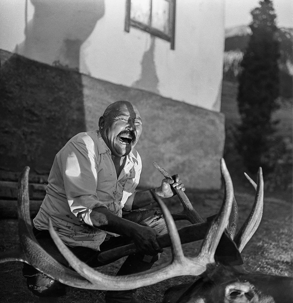 Зөөкүр Орозкулдун бугунун башын аесуз чаап жатканы – дене-бойду дүркүрөткөн  көрүнүштөрдүн бири.