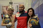 Кыргызстандык Кикбоксчулар Юлия Борисова жана Рустам Ибрагимов Азия чемпионатынын алкагында WAKO Pro куруна ээ болушту
