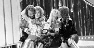 Шведская группа ABBA в Евровидении 1974. Архивное фото