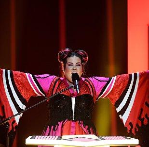 Евровидение сынагынын жеңүүчүсү ырчы Нетта Барзилайдын архивдик сүрөтү