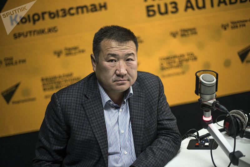 Бизнесмен Айбек Сарыгул, занимающийся логистикой в Турции во время интервью на радио Sputnik Кыргызстан
