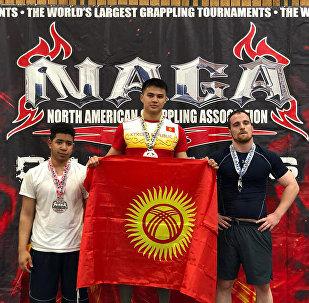 Мухаммед-Али Асанов (ортодо) 2018-жылы Америкада өткөн жиу-житсу боюнча эл аралык турнирде. Архивдик сүрөт