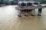 Аварийный мост в Ак-Талинском районе Нарынской области