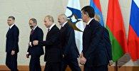 Президенты стран участников ЕАЭС на заседании Высшего Евразийского экономического совета