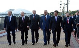 Президенты стран участников ЕАЭС после заседания Высшего Евразийского экономического совета в Сочи