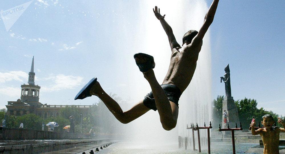 Жара в Бишкеке
