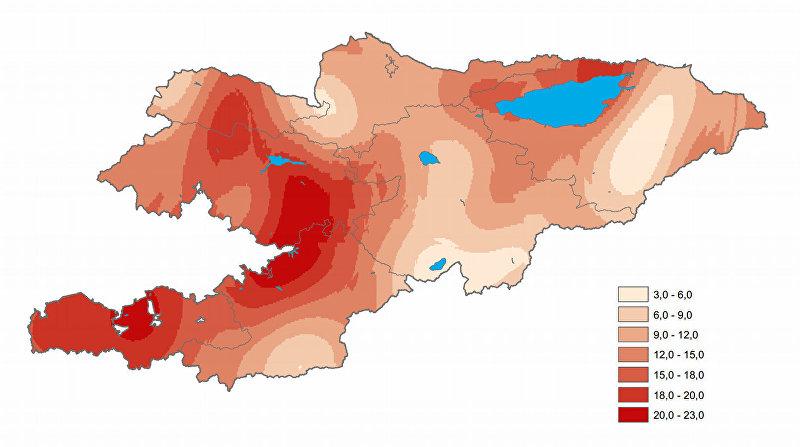 Прогнозируемая температура в июне