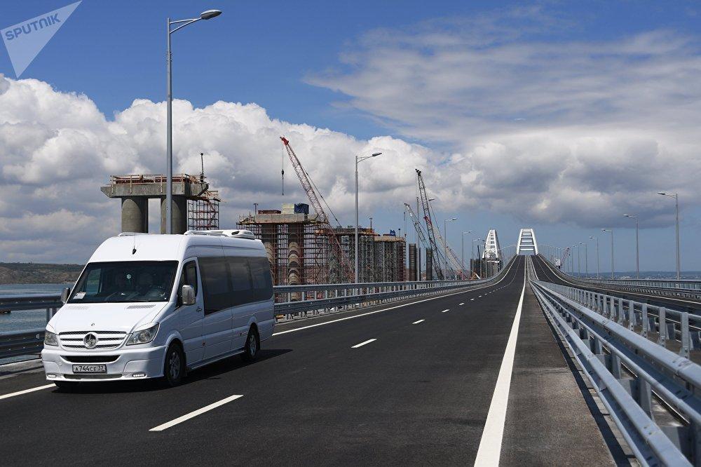 Пропускная способность моста составляет 14 миллионов человек и 13 миллионов тонн груза в год