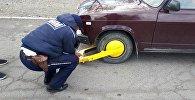 Блокировка колес в Иссык-Кульской области