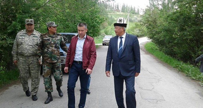 Рабочий визит министра МЧС Нурболота Мирзахмедова в Кара-Кулжу