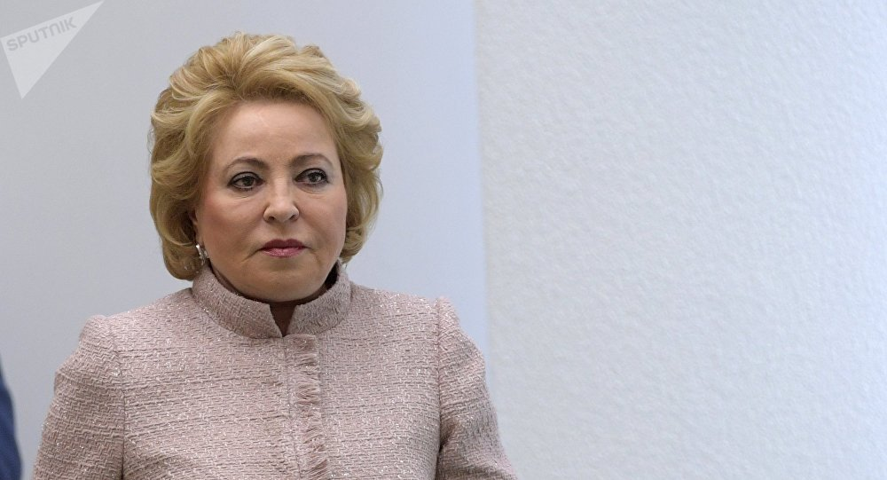 Архивное фото председателя Совета Федерации РФ Валентины Матвиенко