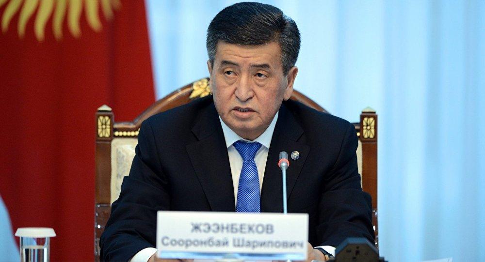 Президент Кыргызстана Сооронбай Жээнбеков на заседании Совета по судебной реформе