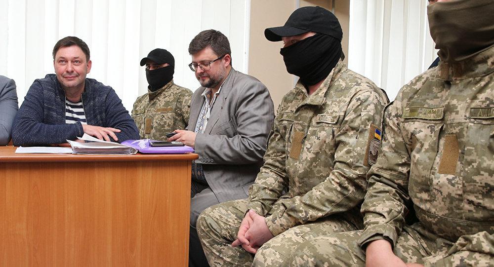 Задержание главы портала РИА Новости Украина Кирилла Вышинского