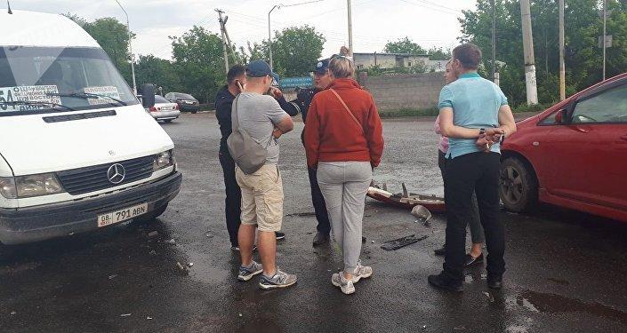 ДТП с участием пассажирского микроавтобуса в селе Лебединовка