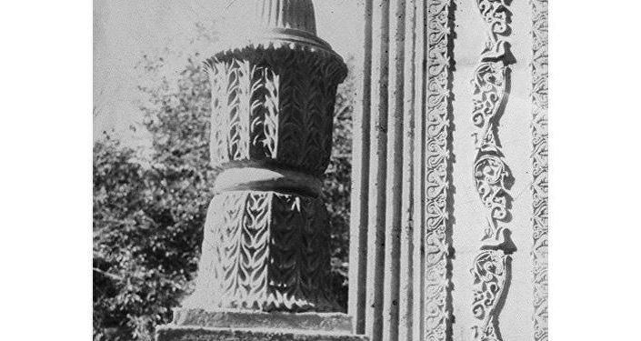 Фрагмент павильона, где продавали прохладительные напитки