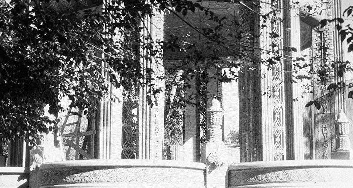 Павильон Соки, газированные воды, построенный архитектором Александром Альбанским в 1952 году