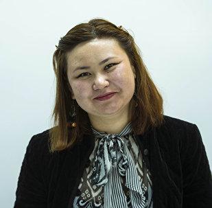 Музейдеги түн акциясынын уюштуруучусу Акзыйнат Шеримбек кызы