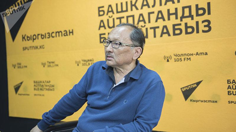 Актер театра и кино Марат Жантелиев во время интервью корреспонденту Sputnik Кыргызстан