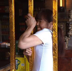 Кафе с металлическими рамками для худых  в Китае