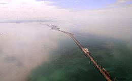 Масштабно! Крымский мост с высоты птичьего полета — впечатляющее видео