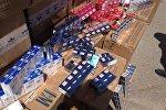 Табачные изделия без соответствующих документов задержанная на контрольно-пропускном пункте Чон-Капка-автодорожный