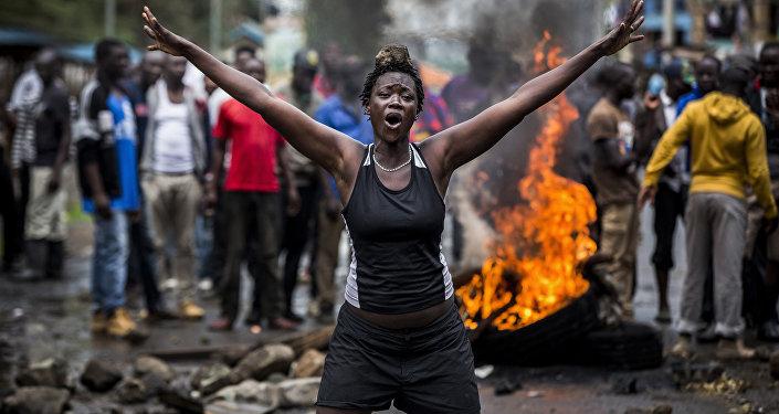 Беспорядки в Кении после выборов, автор Луис Тато из Испании. Архивное фото