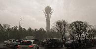 Астану во вторник накрыл мощный ураган с градом