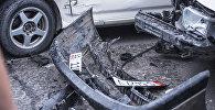 Ала-Тоо аянтында Subaru Forester токтоп турган автоунааларды сүзүп кетти