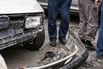 Последствия ДТП на одной из улиц Бишкека. Архивное фото