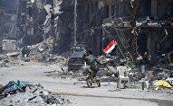 Сирийская армия освободила лагерь палестинских беженцев Ярмук на юге Дамаска