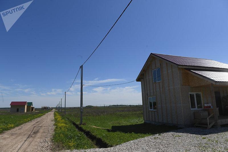 Жилой дом в Кыргызском поселке в Заокском районе Тульской области в Российской Федерации