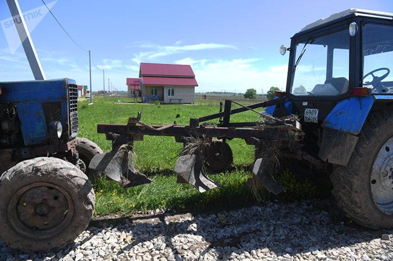 Жилые дома в Кыргызском поселке в Заокском районе Тульской области в Российской Федерации