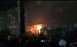 Как горела крупная чайхана в Оше — видео очевидцев