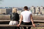 Молодая пара в Нижнем Новгороде