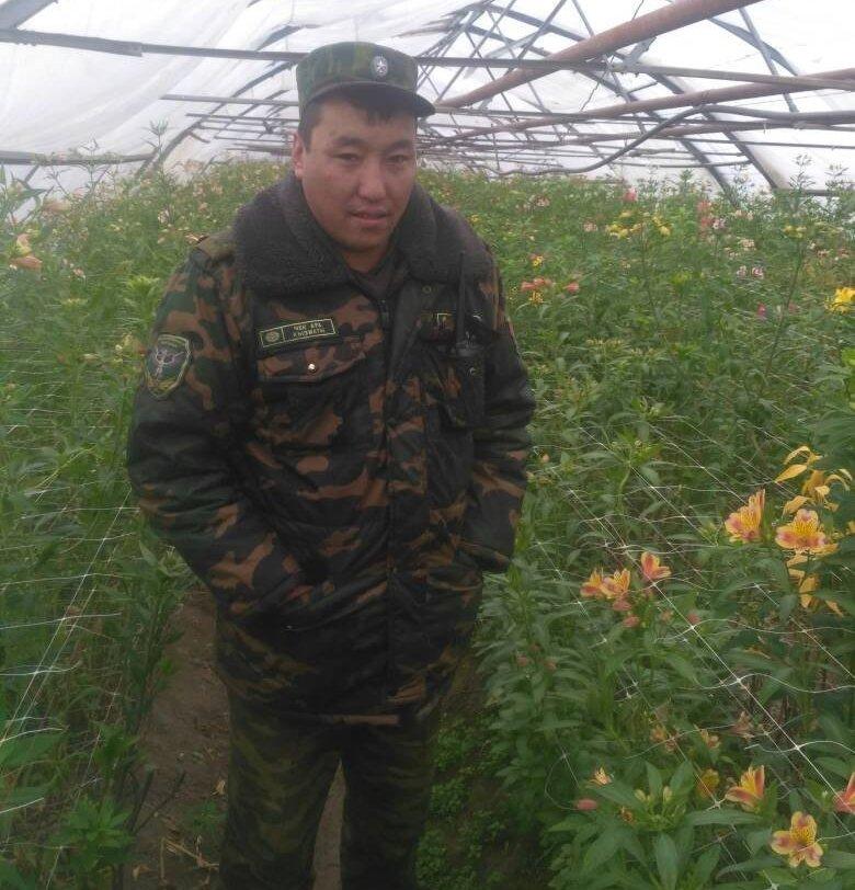 Начальник пограничной заставы Ак-Буура, капитан Элдияр Орозов