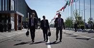 Участники Петербургского международного экономического форума.