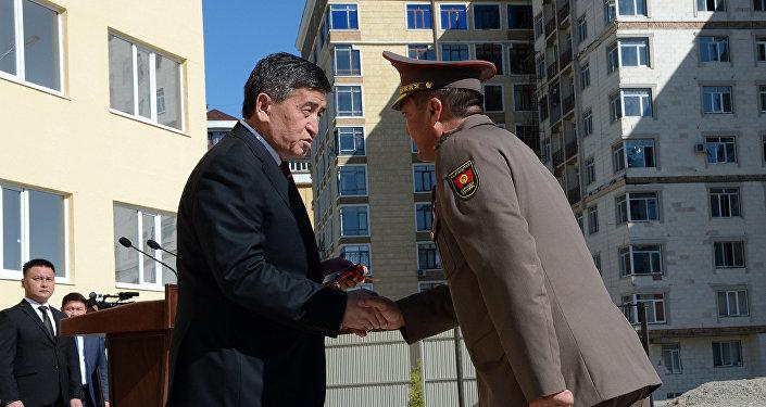Торжественная церемония открытия нового дома для сотрудников ВС КР в Бишкеке