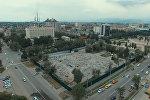 В центре Бишкека появится новый сквер — аэросъемка