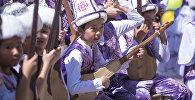 Празднование дня защиты детей в Бишкеке