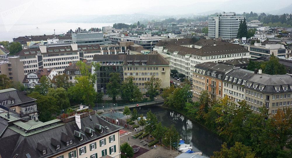 Швейцариянын Цюрих шаары. Архивдик сүрөт