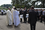 Похоронная церемония Маэли де Араухо