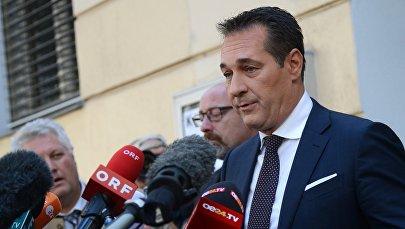 Лидер правонационалистической Партии свободы Австрии Ханс-Кристиан Штрахе. Архивное фото