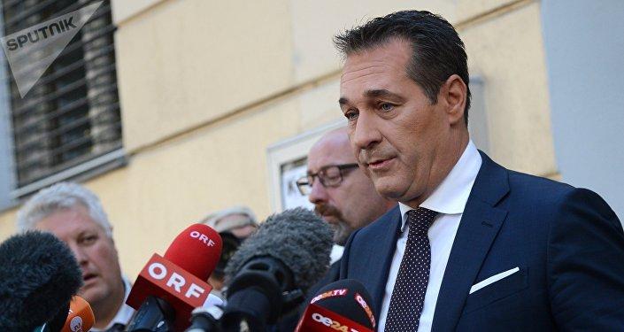 Архивное фото вице-канцлера Австрии и лидера правонационалистической Австрийской партии свободы Хайнц-Кристиана Штраха