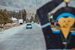 Бишкек — Ош жолундагы автоунаалар. Архивдик сүрөт