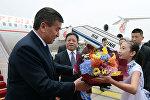 Президент Кыргызстана Сооронбай Жээнбеков прибыл в Китай с государственным визитом