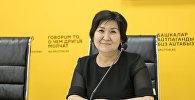 Билим берүү жана илим министринин орун басары Надира Жусупбекова. Архивдик сүрөт
