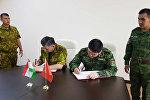 Рабочая встреча делегаций пограничников Кыргызстана и Таджикистана